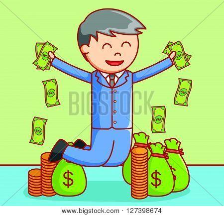 Rich man  illustration .EPS10 editable vector illustration design