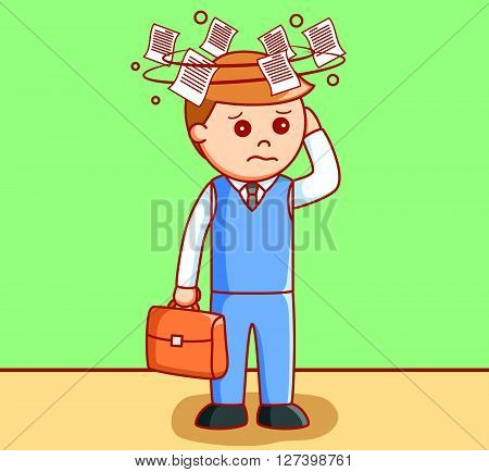 Business man dizzy .EPS10 editable vector illustration design