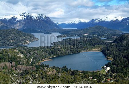 View on the lake Nahuel Huapi