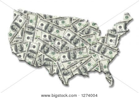 Usa Money Map