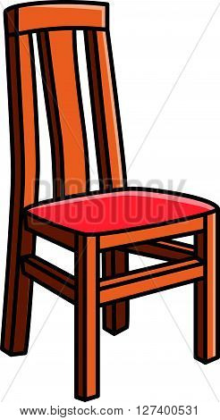 Dining room chair vector cartoon illustration .eps10 editable vector illustration design