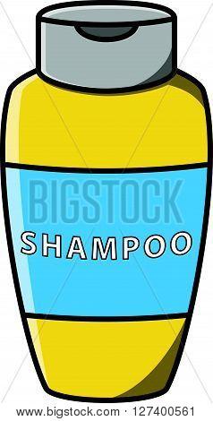 Shampoo bootle vector cartoon illustration .eps10 editable vector illustration design