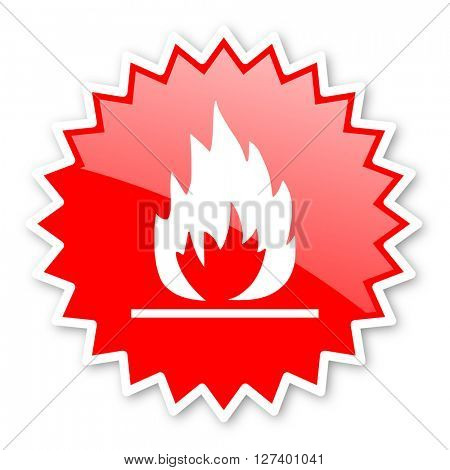flame red tag, sticker, label, star, stamp, banner, advertising, badge, emblem, web icon