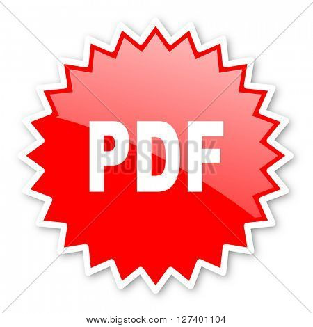 pdf red tag, sticker, label, star, stamp, banner, advertising, badge, emblem, web icon