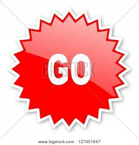 go red tag, sticker, label, star, stamp, banner, advertising, badge, emblem, web icon