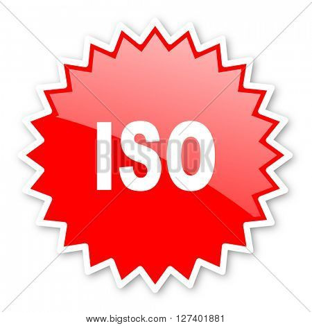 iso red tag, sticker, label, star, stamp, banner, advertising, badge, emblem, web icon