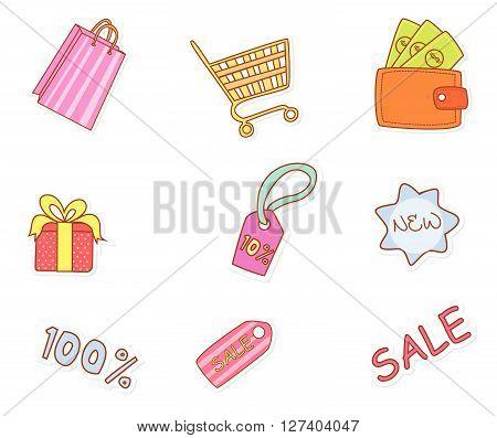 Fashion Shopping Accesories .Eps 10 editable vector Illustration design