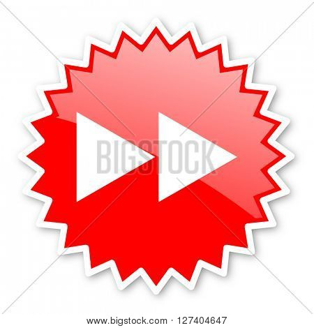 rewind red tag, sticker, label, star, stamp, banner, advertising, badge, emblem, web icon
