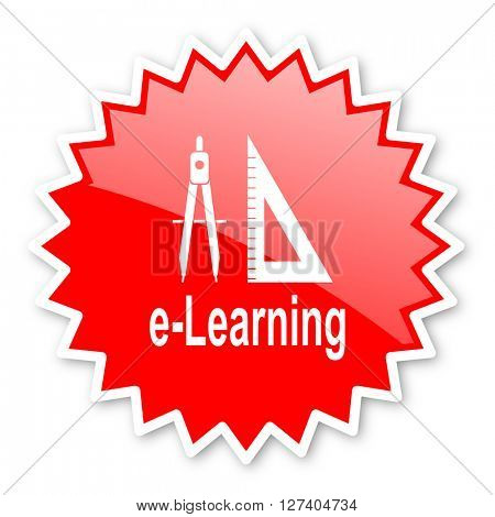 larning red tag, sticker, label, star, stamp, banner, advertising, badge, emblem, web icon