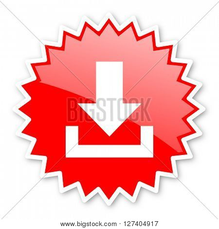 download red tag, sticker, label, star, stamp, banner, advertising, badge, emblem, web icon