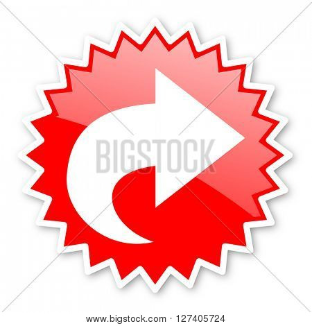 next red tag, sticker, label, star, stamp, banner, advertising, badge, emblem, web icon