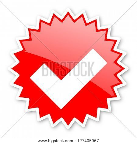 accept red tag, sticker, label, star, stamp, banner, advertising, badge, emblem, web icon