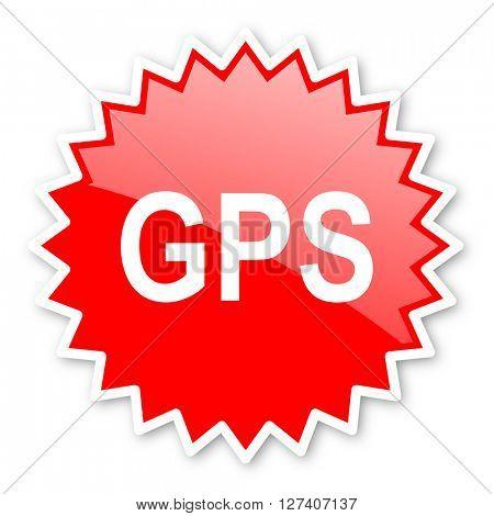 gps red tag, sticker, label, star, stamp, banner, advertising, badge, emblem, web icon