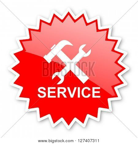 service red tag, sticker, label, star, stamp, banner, advertising, badge, emblem, web icon
