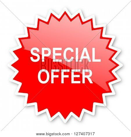 special offer red tag, sticker, label, star, stamp, banner, advertising, badge, emblem, web icon