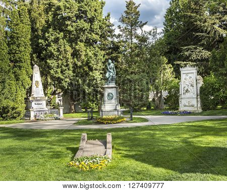 View To  Vienna Central Cemetery, The Place Where Famous People Like Musicians Are Burried