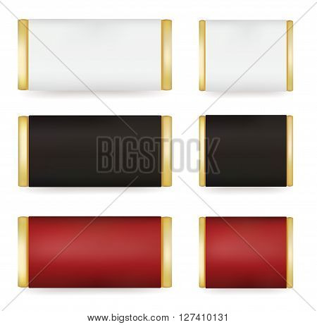 Vector WhiteBlackRed Blank Food Packaging For Biscuit Wafer Crackers Sweets Chocolate Bar Candy Bar Snacks . Design Template Isolated On White Background