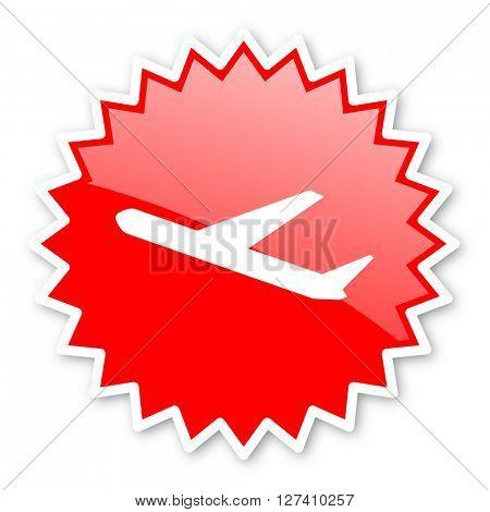 deparures red tag, sticker, label, star, stamp, banner, advertising, badge, emblem, web icon