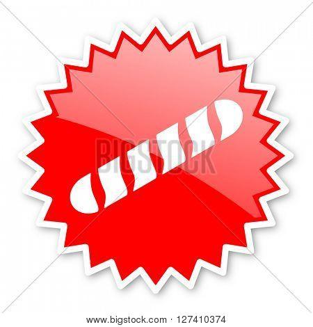 baguette red tag, sticker, label, star, stamp, banner, advertising, badge, emblem, web icon