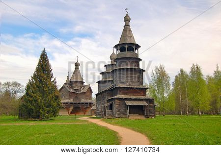 Russian wooden historical houses