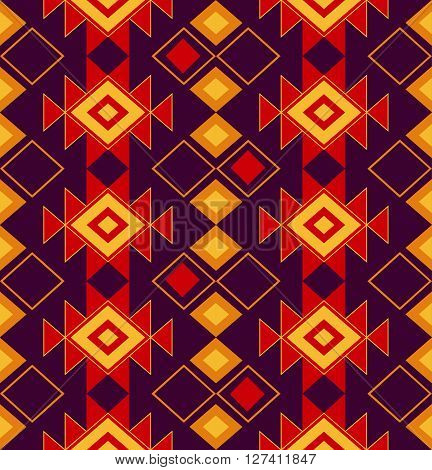 national vector ornament of the peoples of the North. Tribal seamless pattern for fabric, paper or the web. Tribal pattern with triangles.