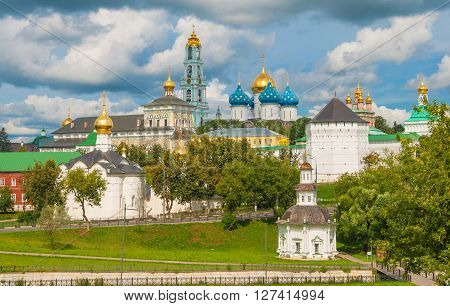 Trinity-Sergius Lavra in Sergiev Posad. Gold ring of Russia