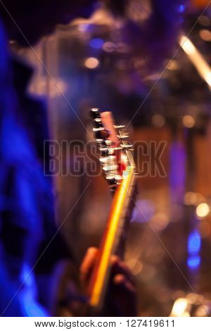 Colorful Blurred Rock Music Vertical Background
