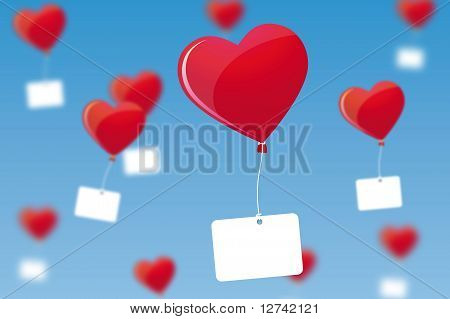 Hearts as a balloon
