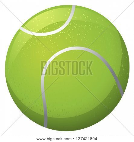Tennis ball on white background illustration