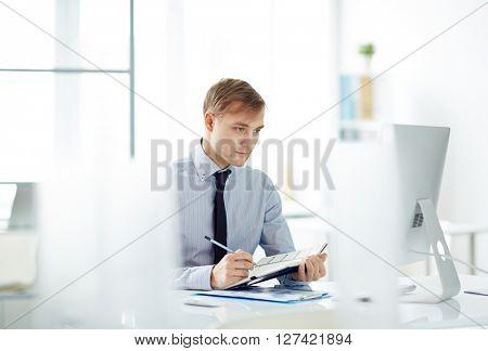 Serious employee