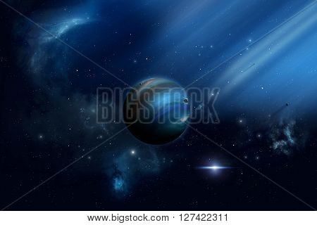 Blue Lights In Space