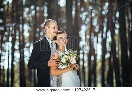 Beautiful Summer Wedding Walk On Nature