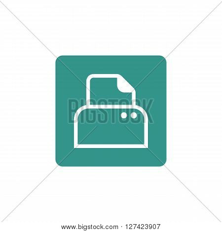 Printer Icon In Vector Format. Premium Quality Printer Symbol. Web Graphic Printer Sign On Green Bac