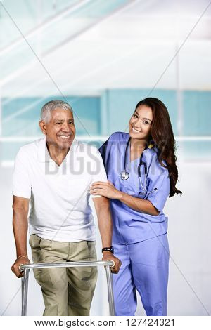 Nurse who is working her shift in a hospital