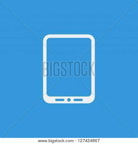Tablet Icon In Vector Format. Premium Quality Tablet Symbol. Web Graphic Tablet Sign On Blue Backgro