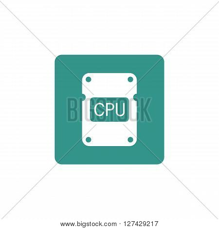 Cpu Icon In Vector Format. Premium Quality Cpu Symbol. Web Graphic Cpu Sign On Green Background.