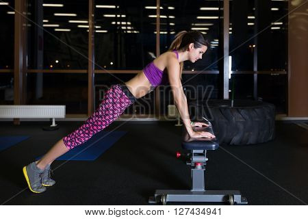 Beautiful Young Women Working Out In The Gym
