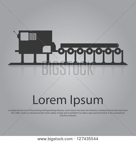 Icon of conveyor belt. Flat design. Illustration EPS10