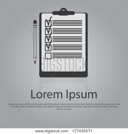 Icon Of Notepad With Pencil