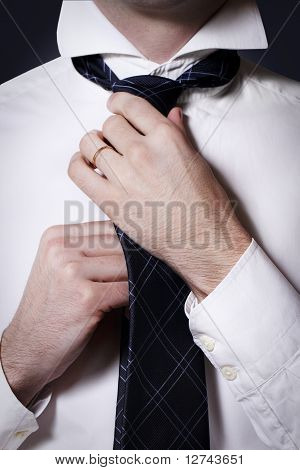 Businessman Doing His Tie