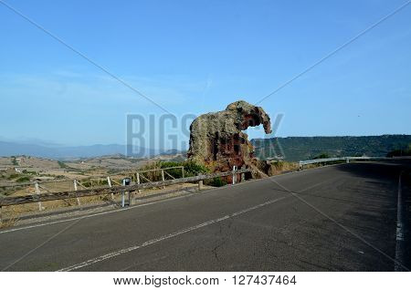 Elephant rock one of the symbols of Sardinia. Moving from Castelsardo direction Sedini you will meet the Elephant Rock a nice Domus de Janas shaped by the wind that took the form of an elephant.