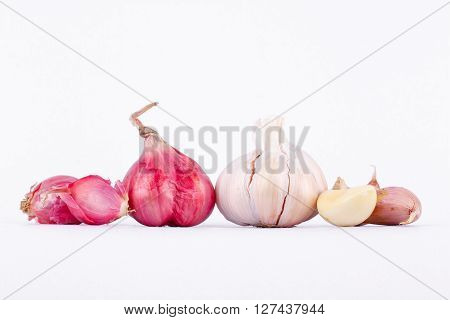 Shallots (Red Onion) and Garlics are popular ingredients in cooking.