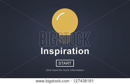 inspiration Creativity Innovate New Light Concept