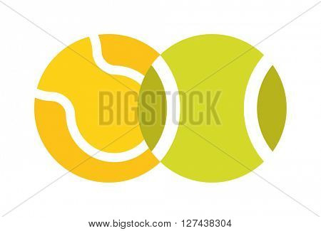 Tennis ball isolated sport equipment game circle round vector icon