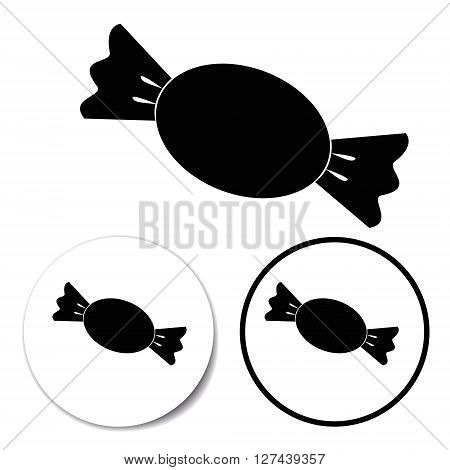 Candy symbol Isolated on a White Background