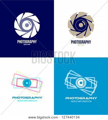 Vector company logo icon element template photography camera