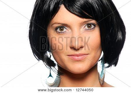Woman In Black Hair