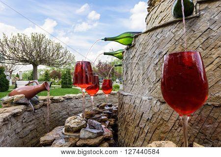 MILESTII MICI, MOLDOVA - APRIL 2016: Milestii Mici winery in Milestii Mici on 23rd of April in Milestii Mici, Republic of Moldova