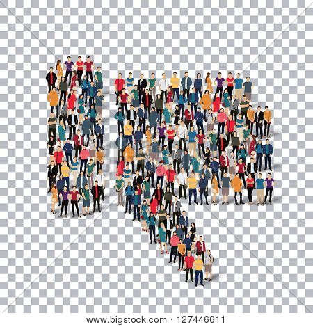 Isometric set of styles, dislike  , web infographics concept  illustration of a crowded square, flat 3d. Crowd point group forming a predetermined shape. Creative people. - Vector Illustration. Stock vector.3D illustration.Transparency grid .
