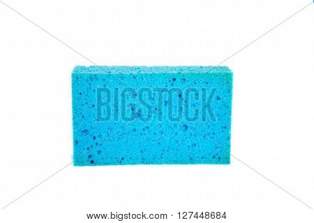 Sponge household items are soft. color blue